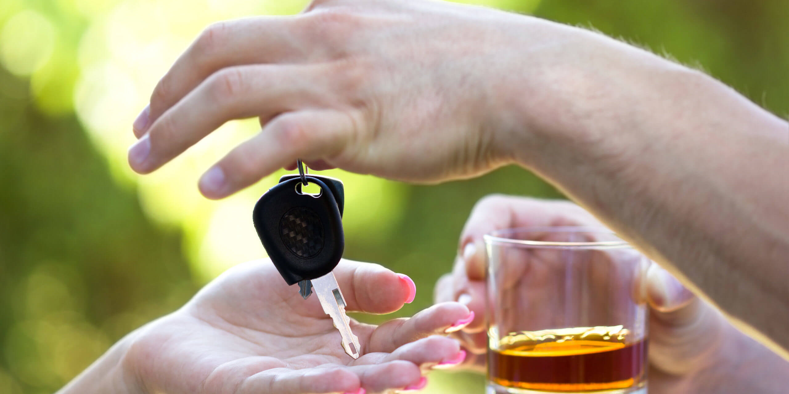 Alcohol with a Car Key